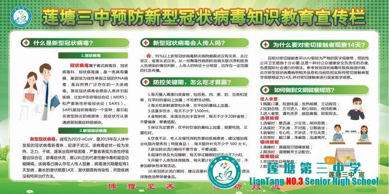 莲塘三中疫情防控-新冠病毒知识